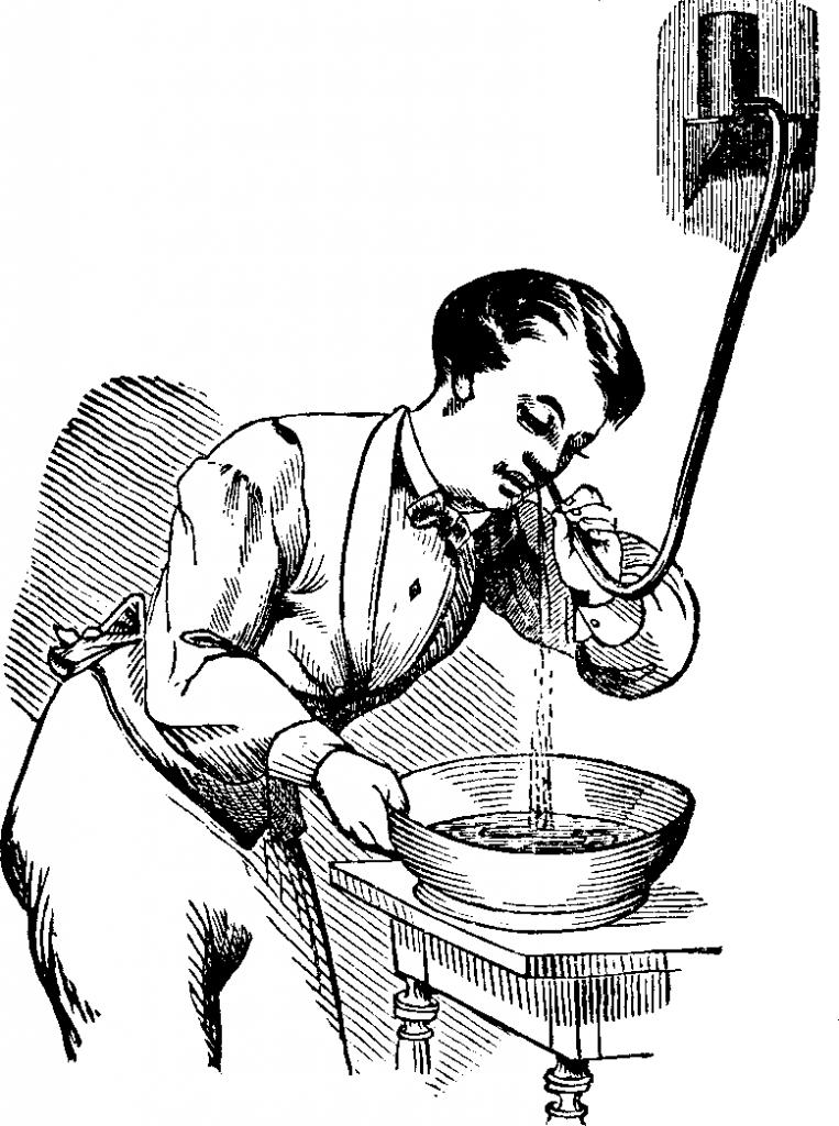 Doccia Nasale, o Lavaggio Nasale, Dott. Pierce, 1875